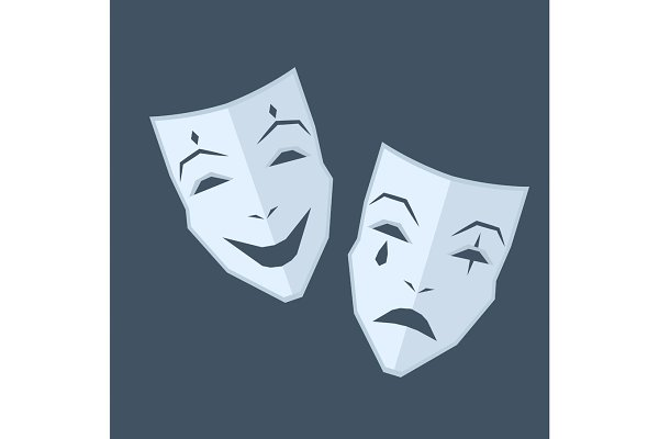 Mardi Gras. Two Masks with Differen…