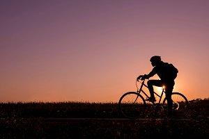 Looking forward on bicycle