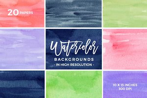 Watercolor Background Texture BUNDLE