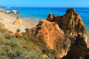 Algarve summer coast, Portugal.