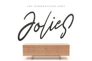 Jolies Typeface - Texture Includes