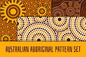 Australian aboroginal pattern set