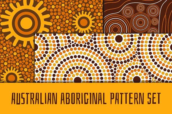 Australian aboroginal pattern set