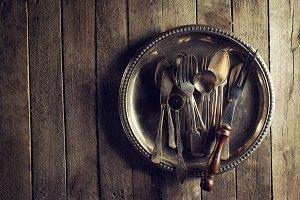 Food Vintage Cooking Concept