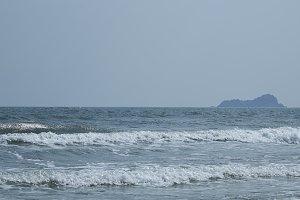 Sea winter at the Hua Hin