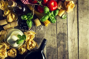 Healthy Food Italian Cooking Concept