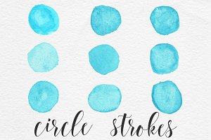 Watercolor Brush Circle Clipart