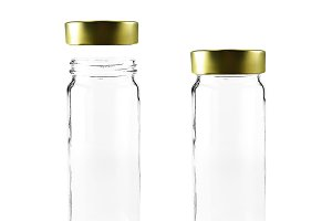 D Mockup Of Glass Jar On Ps