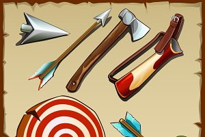 Archery set and tools for the hunter