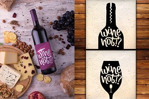 Hand Lettering Quotes about Wine