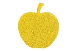 Golden yellow apple fruit symbol