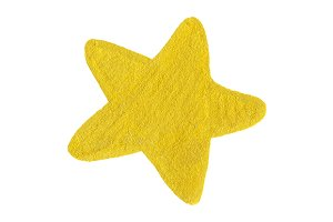 Golden yellow star shape symbol