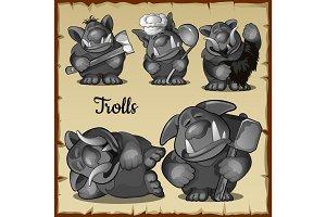 Figurines funny trolls