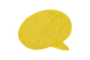 Yellow thought baloon bubble symbol