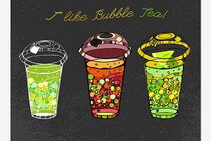 Hand Drawn Bubble Tea