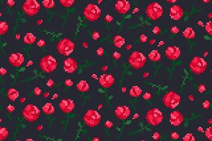 Roses Patterns Set