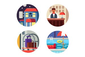 Hotel service set icons