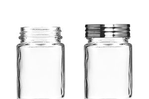 Glass Mason Jar with Metal Lid