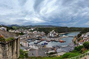 Luarca town cityscape, Spain.