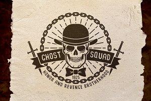 Ghost Squad Skull Logo