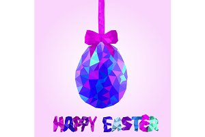 Colorful easter egg greeting card
