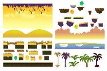 Jungle Landscape Elements Set