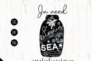 In Need of Vitamin Sea Cut File