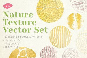 Nature Texture Vector Set