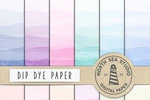 Dip Dye Watercolor Paper