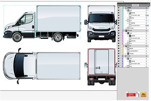 Delivery/cargo truck mockup