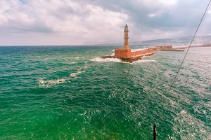 Morning Lighthouse in Chania, Crete