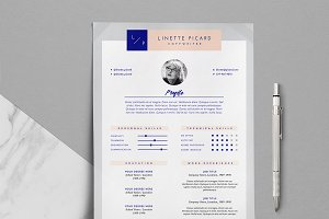3-Page Resume Template / Linette