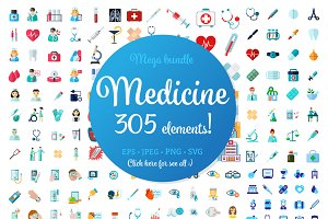 Mega 305 Medical Icons Bundle