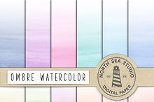 Watercolor Ombre Paper