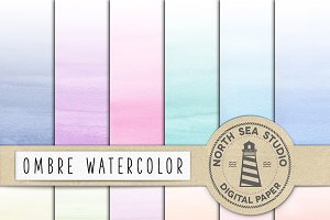 Watercolor Ombre Paper
