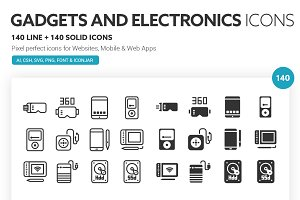 Gadgets and Electronics Icons