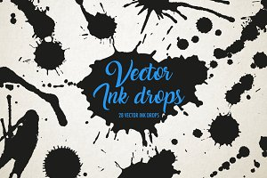 Ink drops vector