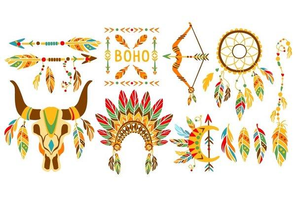 American Indian Ethnic Elements Boh…