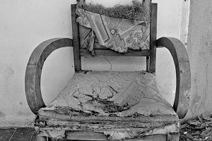Torn Armchair Glass