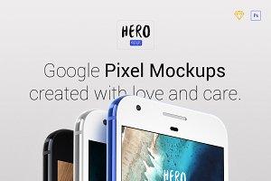 HERO Google Pixel Mockups
