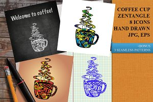 COFFEE CUP ZENTANGLE