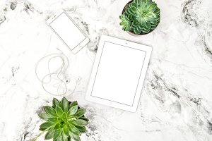 IPad Tablet Iphone Flat lay JPG
