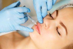 Subcutaneous injection lips.