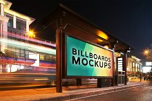 Billboard Mockup at Night #2