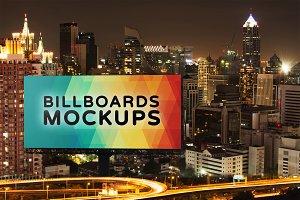 Billboard Mockup at Night #11