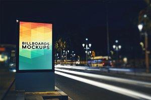 Billboard Mockup at Night #8