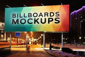 Billboard Mockup at Night #4