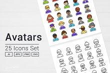 Avatars People Icons Set