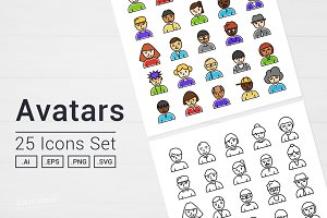 Avatars People Icons Set