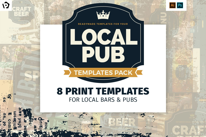 Local Pub Templates Pack ~ Flyer Templates ~ Creative Market